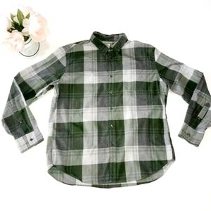 J.Crew Men's Size XL 2Ply Long Sleeve Shirt Green